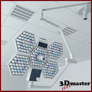 medical surgical lighting 3D model