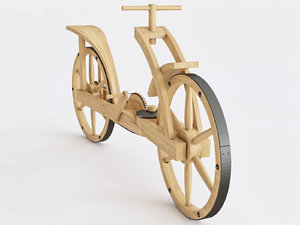 3D wooden bicycle
