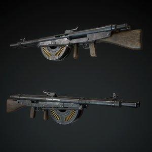 3D chauchat machine gun model