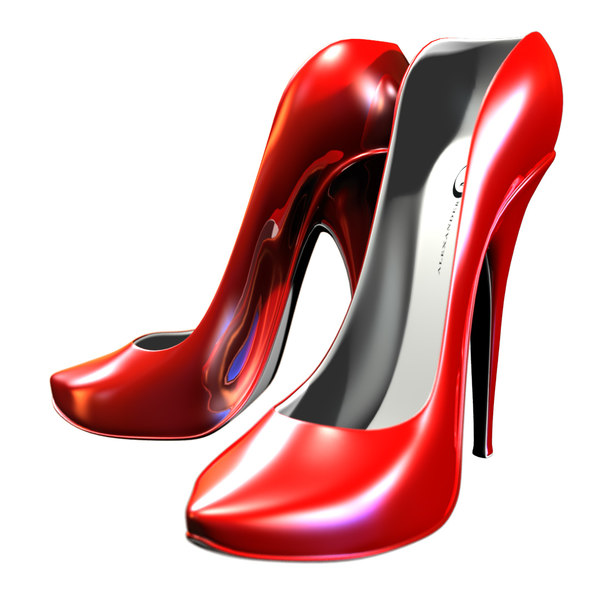 3D stylized hi-heels