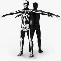skull skin morphsuit 3D