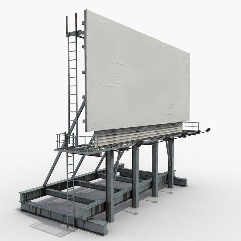 Billboard 3D Models for Download