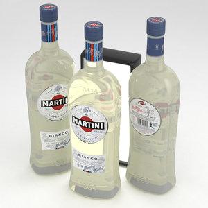 3D martini bianco