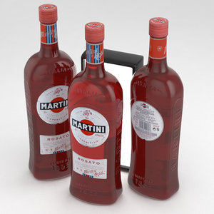 martini bottle rosato 3D model