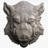 boar head relief for CNC