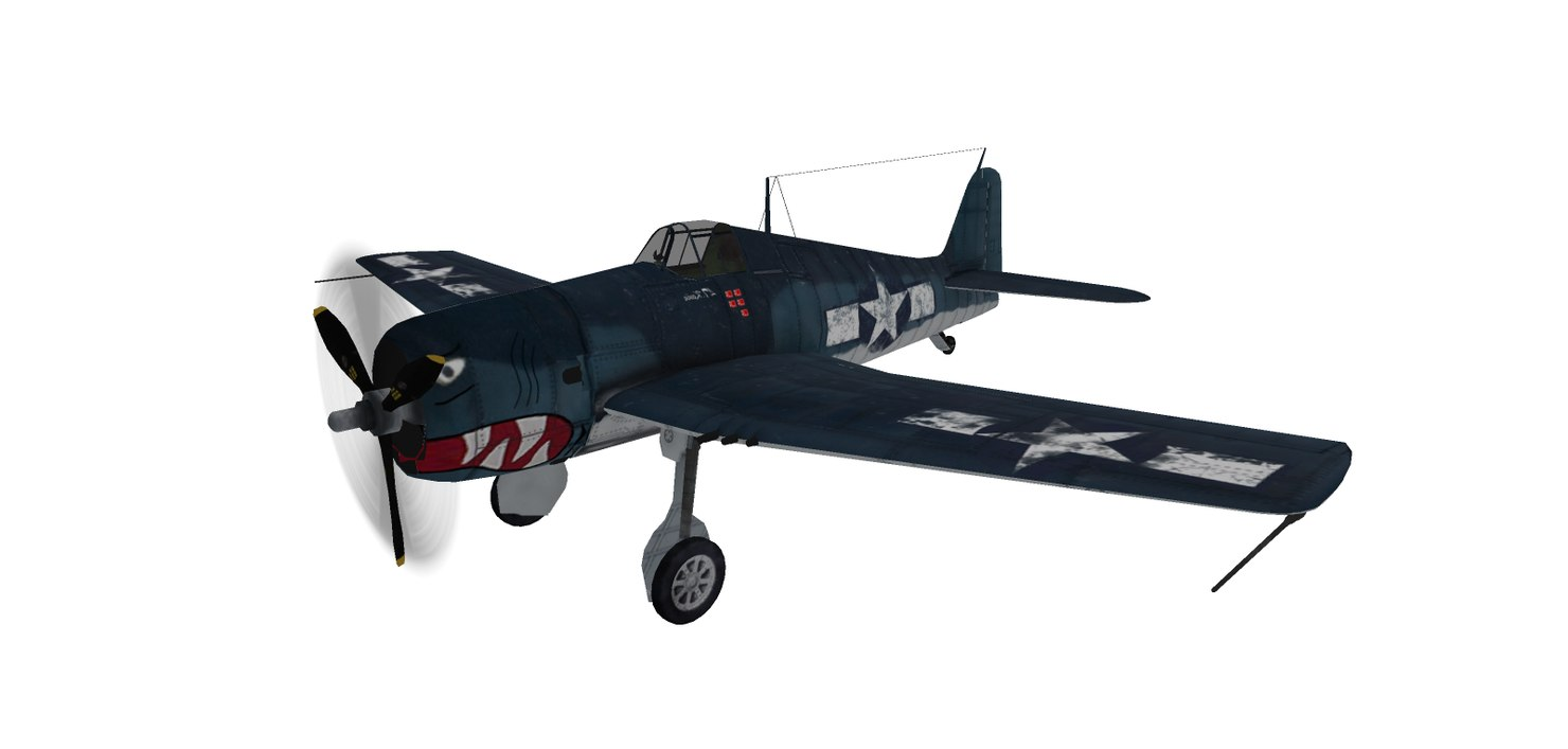 world war fighter f6f 3D