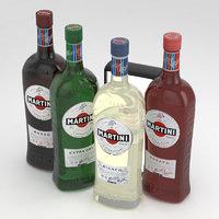 martini bottles 3D model