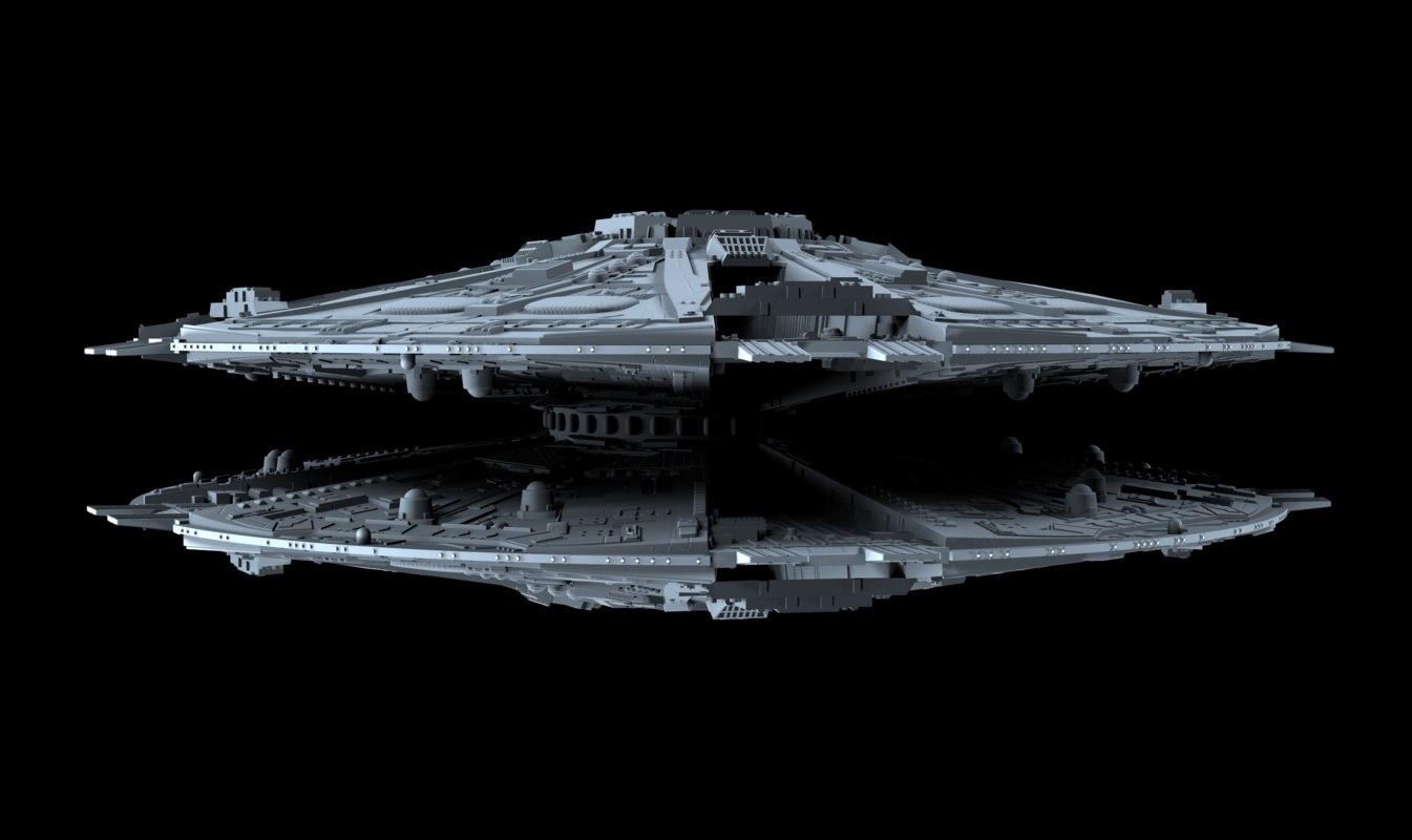 battlestar galactica 3D model