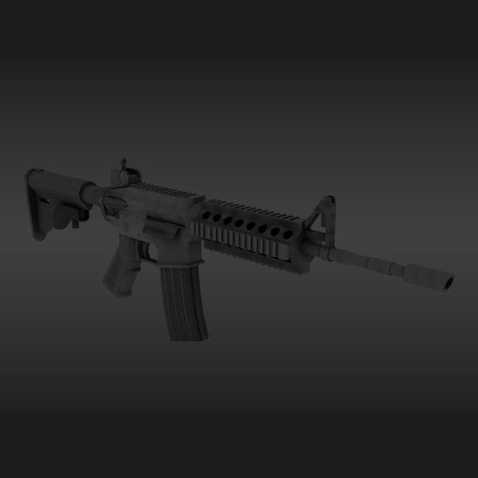 3D model m4a1