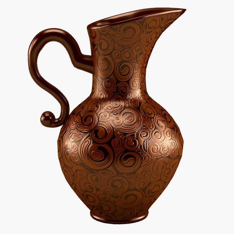 ceramics patterned interior 3D model