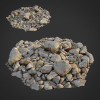 scanned nature stone 023 3D model