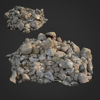 scanned nature stone 024 3D model