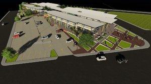 3D mall render