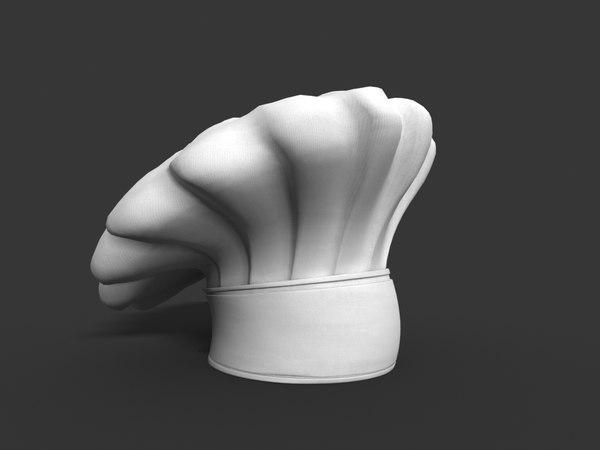 3D model chef s hat