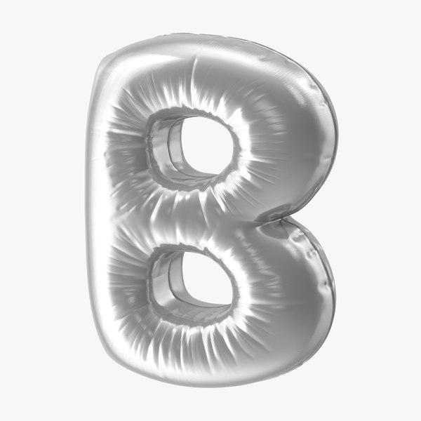 foil balloon letter b model