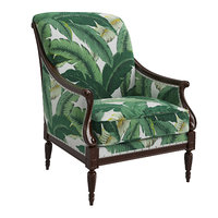 harwood accent chair palm leaf 3D