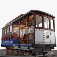 3D famous san francisco cable car model