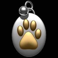 3D pet footprint bell model