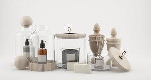 3D bathroom equipments