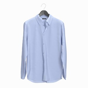 realistic man shirt blue 3D model