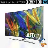 qled smart curved tv model