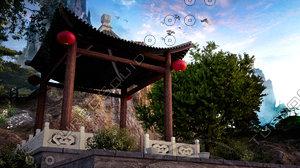 chinese pavilion 3D model