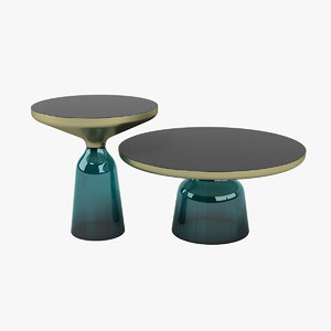 3D bell table set model