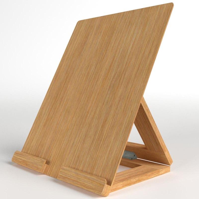 adjustable tablet stand desk 3D model