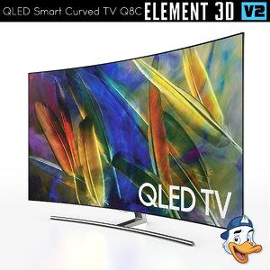 qled smart curved tv 3D