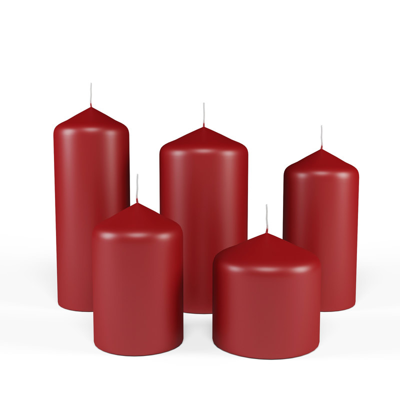 3D candle stick set 5 model