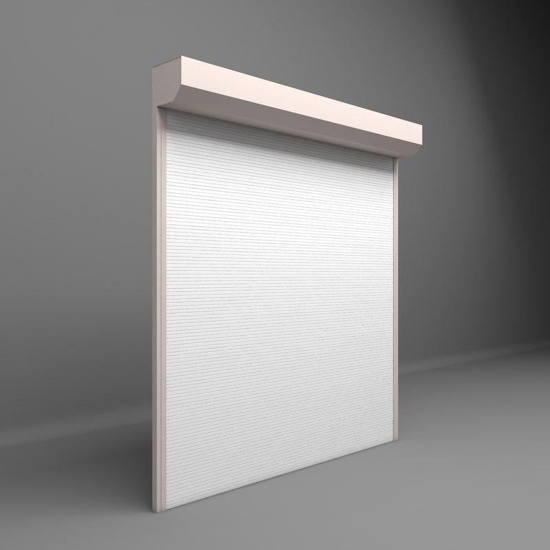 3D electrically shutter garages door
