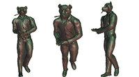 figurine bear 3D model