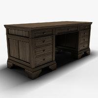 executive desk 3D model