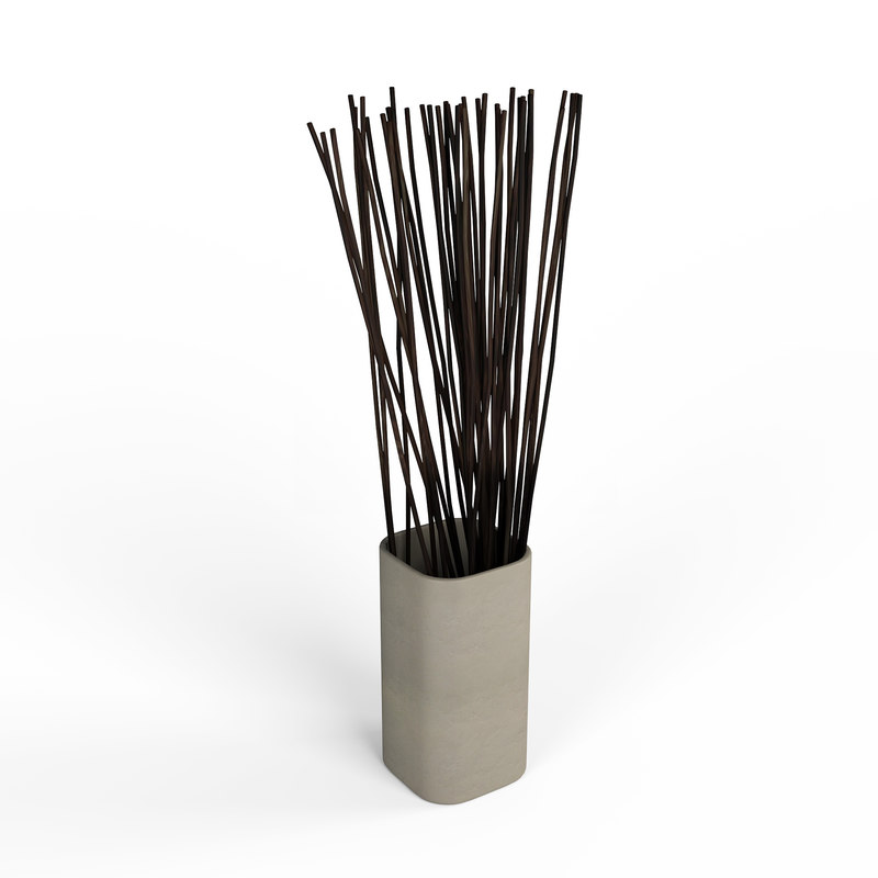 vase branches decoration 3D model