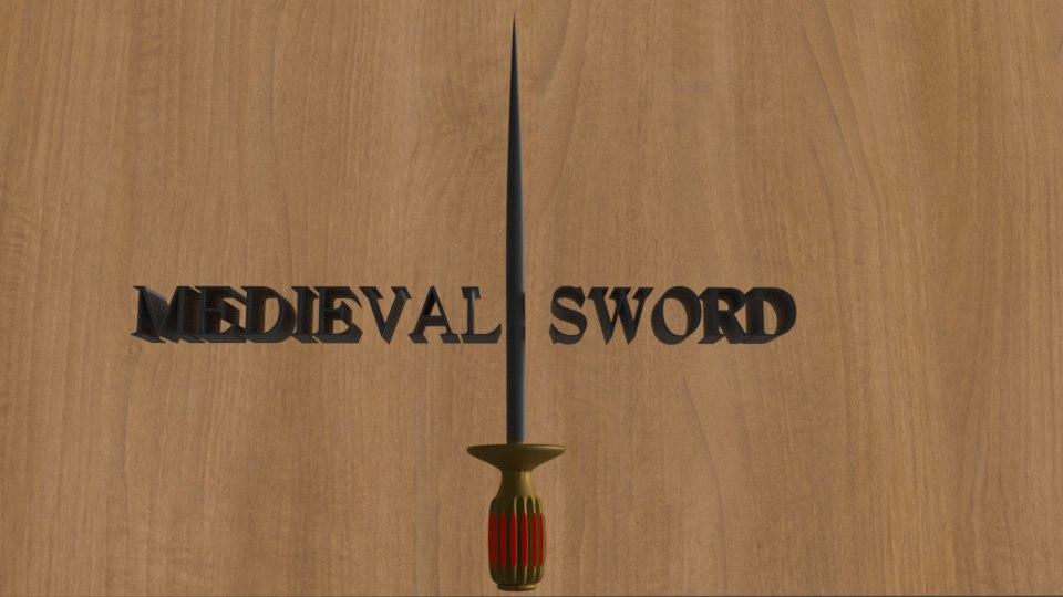 medieval sword model