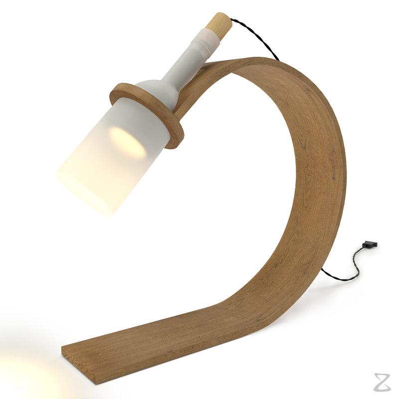 3D light table lamp 3