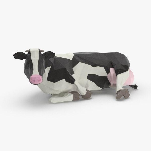 3D cow---sitting model