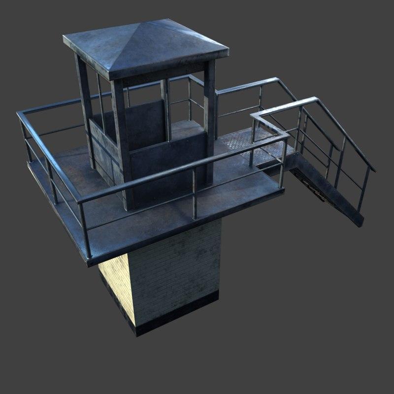 prison tower model