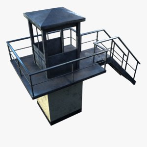 prison tower model
