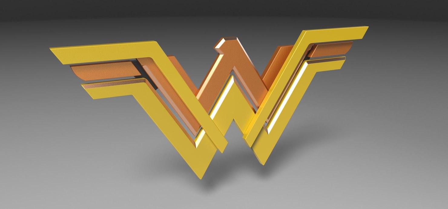 3D model logo wonder woman