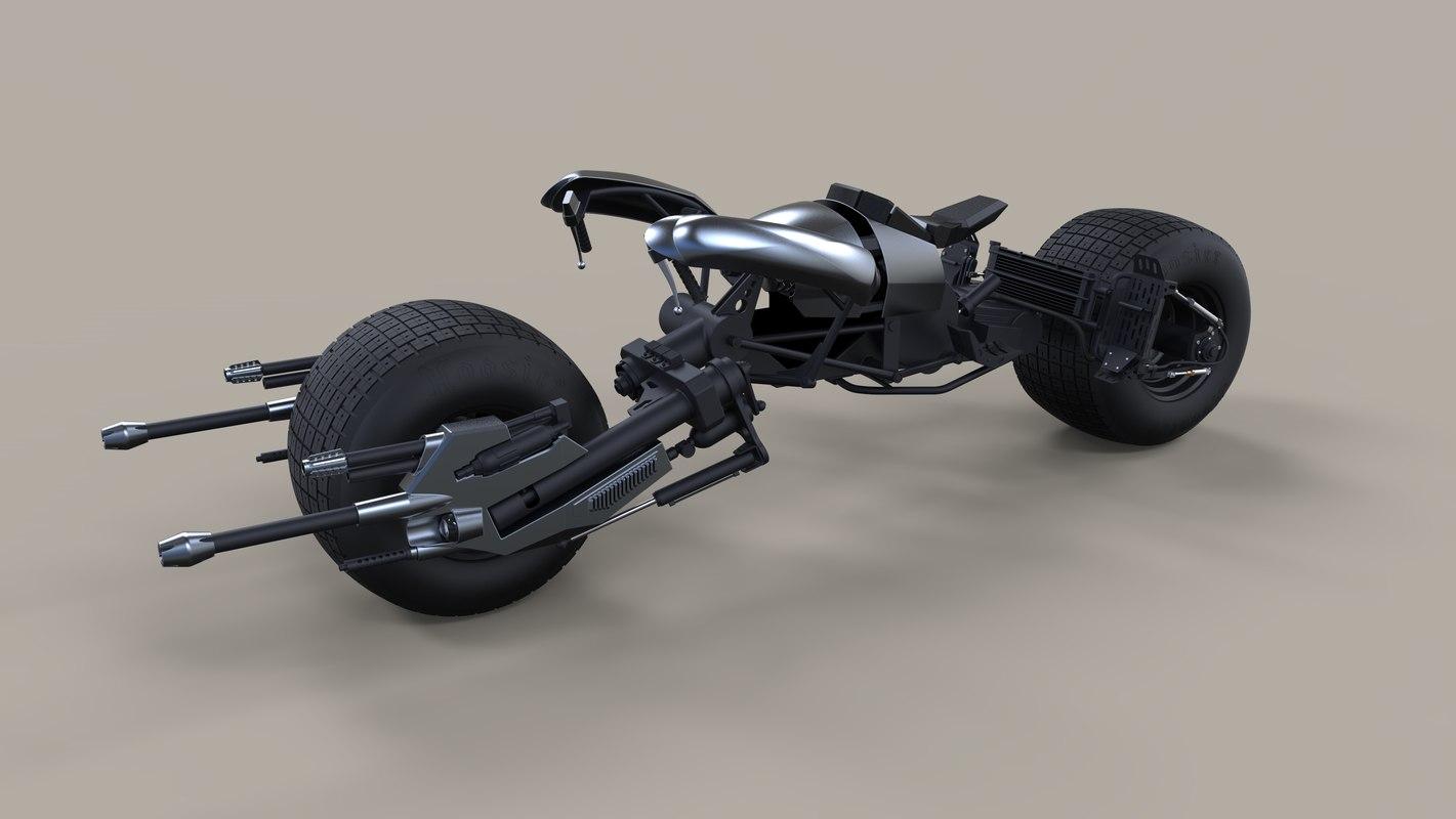 3D batpod dark knight