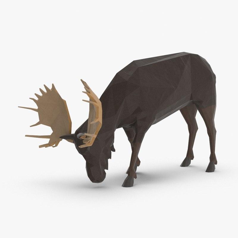 moose---eating 3D