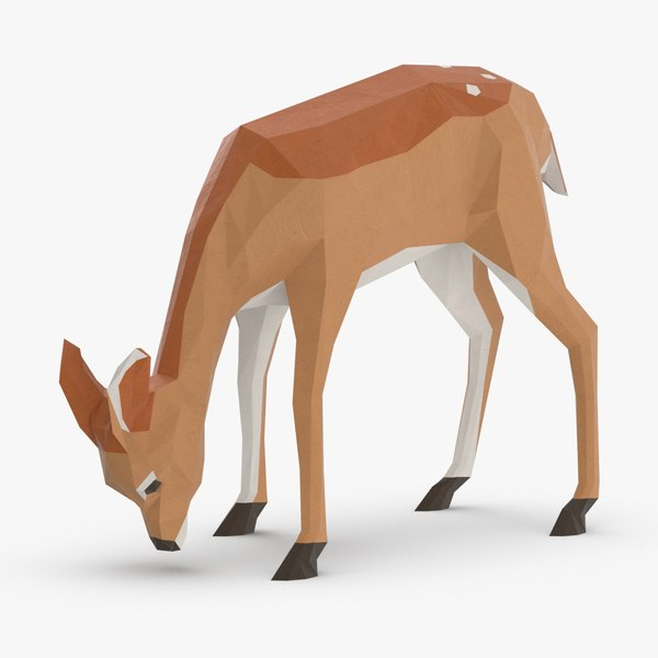 3D model fawn---eating