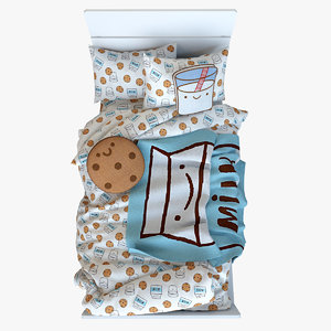 3D milk cookies bedding set