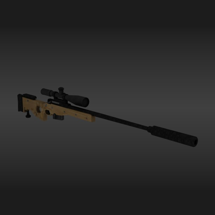 accuracy international 3D model