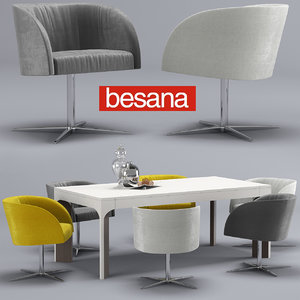 3D model besana soul-thea chair-table