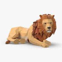 lion---lying 3D model