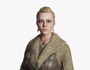 3D model viking woman