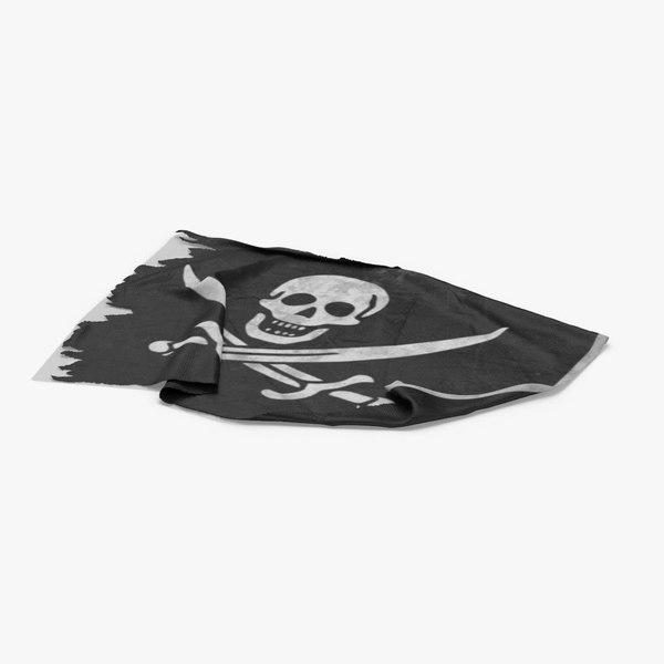 pirate-flag-01---v4 3D