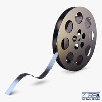 video film reel 35mm 3D model